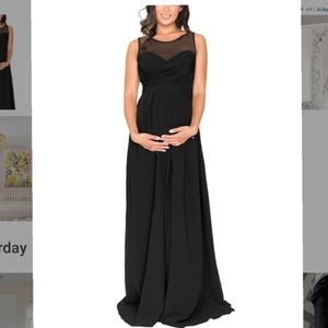 New Black Maternity formal or bridesmaid dress